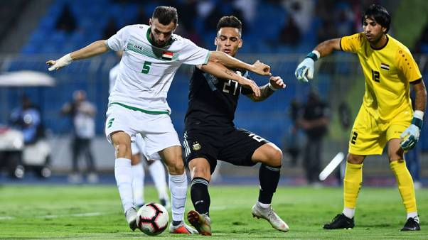 Soccer - Four-goal Argentina too strong for Iraq in Saudi friendly