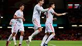 Soccer - Alcacer double helps Spain ease to 4-1 win over Wales