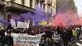 Studenti in piazza a Torino