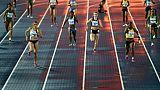 Le 4 x 100 m féminin aux Mondiaux-2017 de relais, le 23 avril 2017 à Nassau