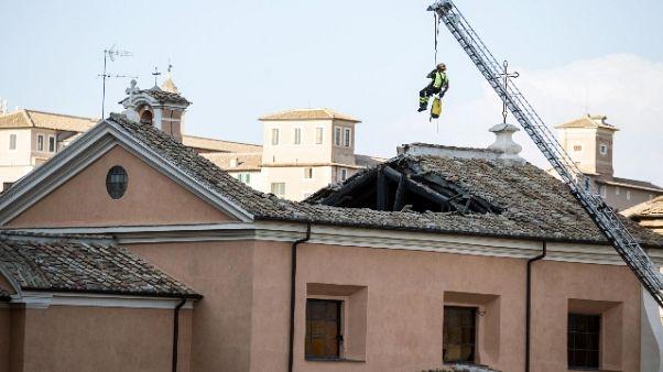 Crollo in chiesa a Roma, primi indagati