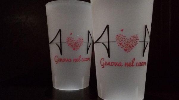Genova nel Cuore su bicchieri Lessglass