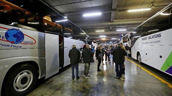 Dal 2019 centro Roma senza bus turistici