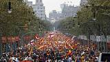 Thousands march in Barcelona in rival protests on Spain's national day