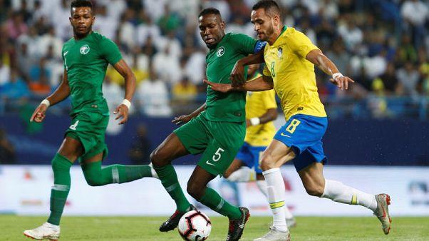 Soccer - Brazil fail to sparkle in 2-0 win over Saudi Arabia