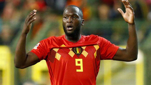Soccer - Lukaku double lifts the mood in Belgium