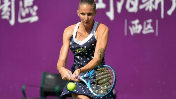 Tennis: Karolina Pliskova en finale à Tianjin