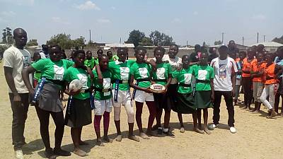 Zambian Rugby commemorates International Day Of Girl Child with a Tag Rugby Girls Tournament