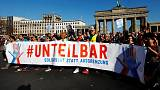 'United against racism', Germans stage mass protest against far right