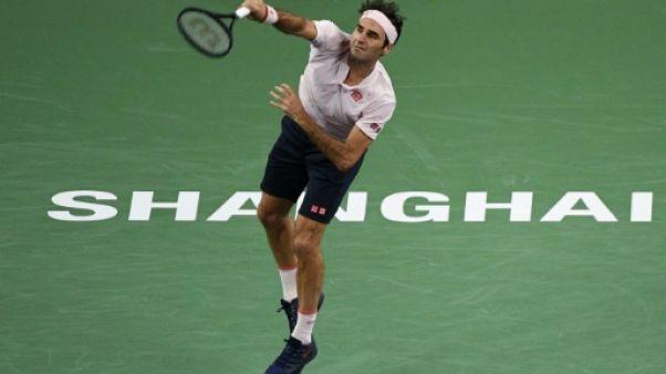 Le Suisse Roger Federer battu en demi-finales à Shanghaï le 13 octobre 2018