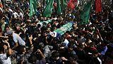 Des milliers de personnes aux funérailles à Gaza de sept Palestiniens tués