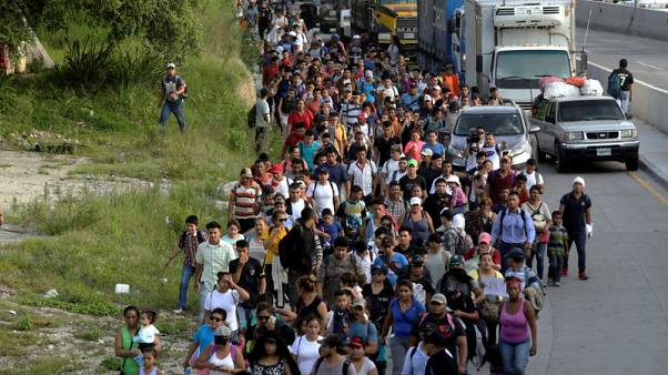 Honduran migrant group treks north as U.S. calls for tighter borders
