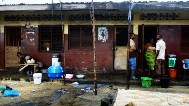 Le bidonville de West Point à Monrovia, au Liberia, le 6 septembre 2014