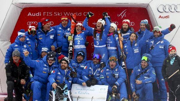 Sci: allenamento azzurre in Valtellina