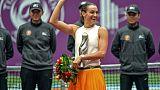 Tennis: Garcia sauve sa saison avec un titre à Tianjin