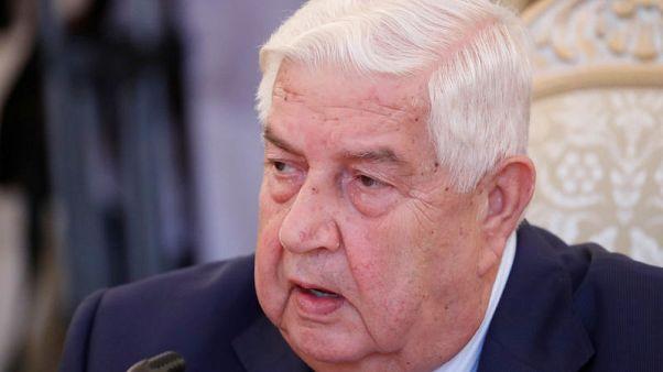 وزير خارجية سوريا يبحث مع نظيره العراقي إعادة فتح المعابر الحدودية