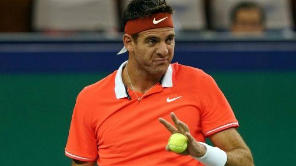 Tennis: Del Potro souffre d'une fracture de la rotule du genou droit
