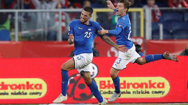 Biraghi gives Italy stoppage-time win in Poland