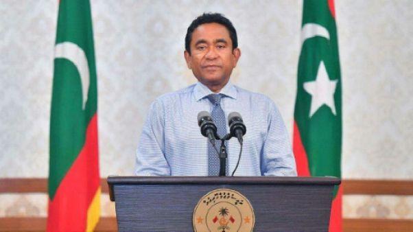 Le président des Maldives Abdulla Yameen, le 24 septembre 2018 à Malé