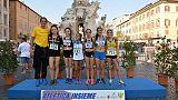 L'atletica azzurra a Piazza Navona