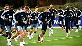 Les joueurs français à l'entraînement à Clairefontaine, le 13 octobre 2018