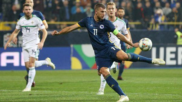 Dzeko double gives Bosnia 2-0 win over Northern Ireland