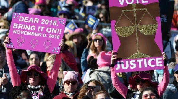 """Candidates et électrices galvanisées: l'Amérique vit son """"année de la femme"""""""