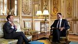 Macron moves governing party chief into interior ministry in reshuffle