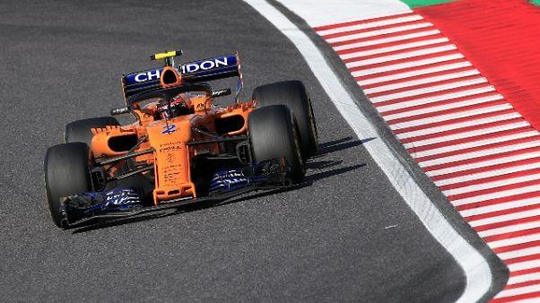F1: Vandoorne saluta la McLaren