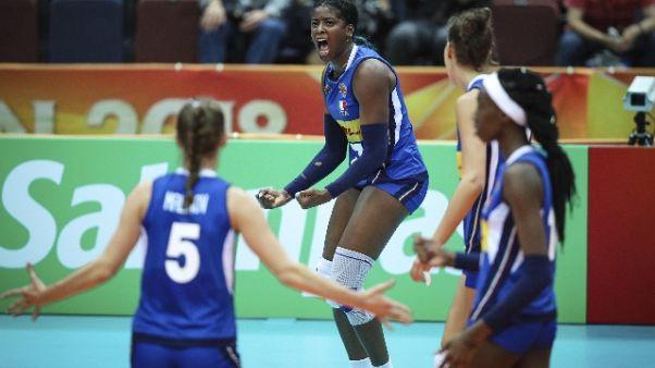 Pallavolo:Mondiali donne,primo ko Italia