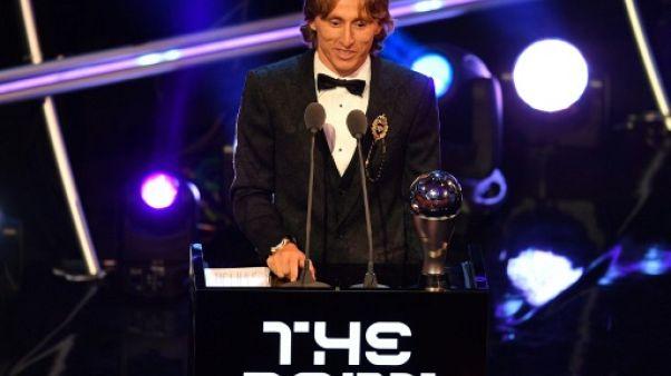 Le Croate Luka Modric joueur Fifa de l'année le 25 septembre 2018