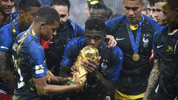 La France sacrée championne du monde le 15 juillet 2018