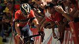 Cyclisme: Nibali va rencontrer les gendarmes français après sa chute dans l'Alpe-d'Huez