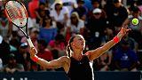 Kristina Mladenovic lors de l'US Open à Flushing Meadows, le 30 août 2018