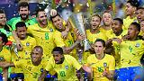 Miranda heads late winner as Brazil beat Argentina 1-0 in friendly