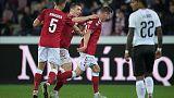 Lerager opens Denmark account in friendly win over Austria
