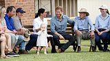 الأمير هاري وزوجته ميجان يخلبان الألباب في بلدة استرالية