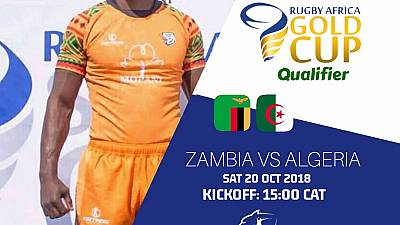 Rugby: Zambia face Algeria in the decider game to determine who qualifies to the Gold Cup 2019