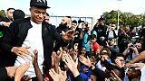 Kylian Mbappé accueilli en héros dans sa ville de Bondy, le 17 octobre 2018