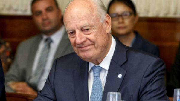 L'émissaire de l'ONU Staffan de Mistura à Genève le 11 septembre 2018
