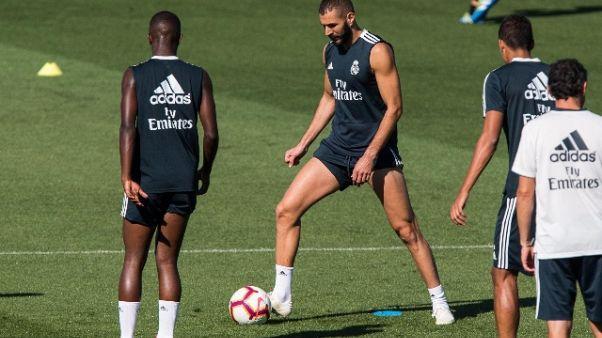 Real: Bale e Benzema tornano al lavoro