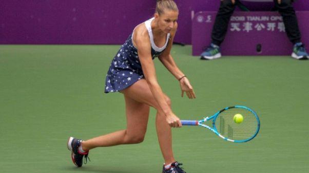 La Tchèque Karolina Pliskova lors du tournoi de Tianjin, le 14 octobre 2018