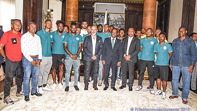Qualification pour la Coupe d'Afrique des Nations (CAN) 2019 :  Les Barea reçus à Ambohitsorohitra par le Chef de l'Etat