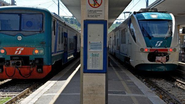 Riaperta linea Fs Adriatica, suicidio