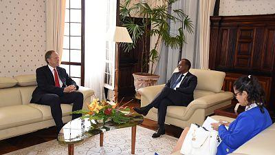 Le Président p.i reçoit le Chef du Bureau de l'Ambassade de Norvège