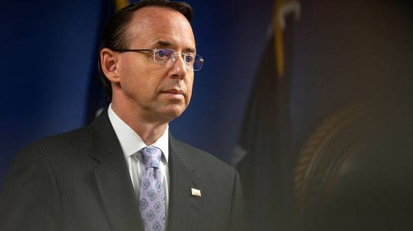 U.S. lawmakers to quiz Trump-Russia probe overseer Rosenstein
