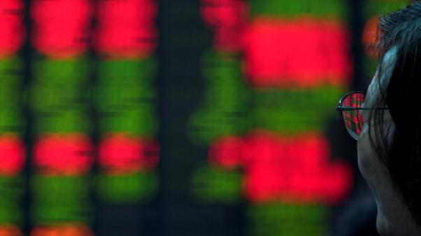 Asia shares extend slump as global sentiment sours