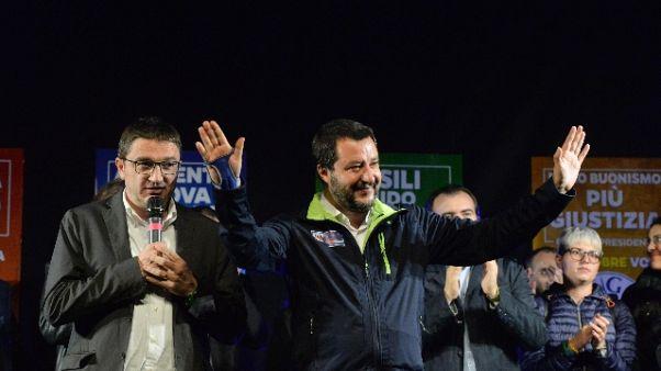 """Salvini fa gli scongiuri """"Vince l'Inter"""""""