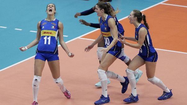 Pallavolo: Italia avanti 1-0 su Serbia