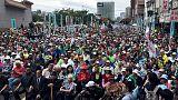 آلاف يتظاهرون في تايوان للمطالبة باستفتاء على الاستقلال